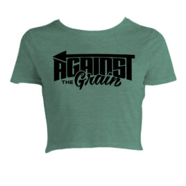 AGAINST THE GRAIN Havoc Sage Crop Tee