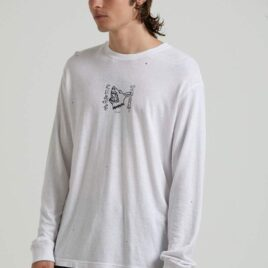 AFENDS Chaos Theory- Hemp Retro Fit Long Sleeve Tee