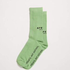 AFENDS PREMIUM ORGANIC – LIME Socks One Pack