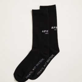 AFENDS PREMIUM ORANIC – BLACK Socks One Pack