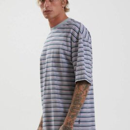 AFENDS Surplus Recycled Stripe Oversized Tee
